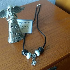 Cord & charm necklace nwot